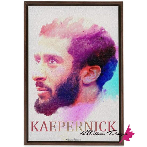 Image of Colin Kaepernick Water Colour Style Art Print - Framed Canvas Art Print / 24x36 inch