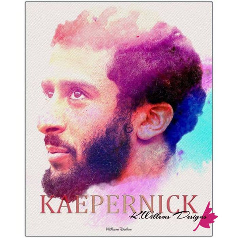 Image of Colin Kaepernick Water Colour Style Art Print - Metal Art Print / 16x20 inch
