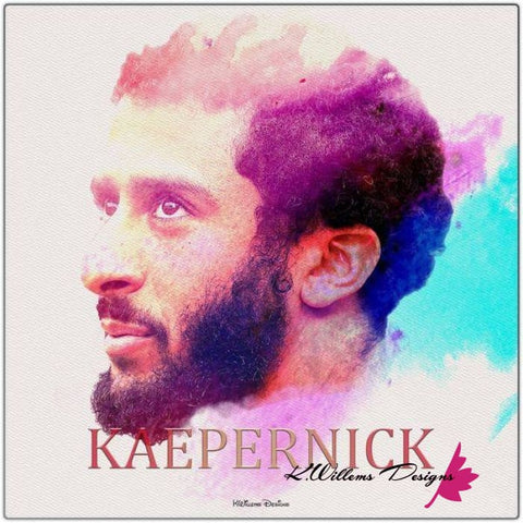 Image of Colin Kaepernick Water Colour Style Art Print - Metal Art Print / 24x24 inch