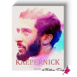 Colin Kaepernick Water Colour Style Art Print - Wrapped Canvas Art Print / 16x20 inch