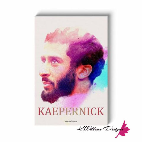 Image of Colin Kaepernick Water Colour Style Art Print - Wrapped Canvas Art Print / 24x36 inch