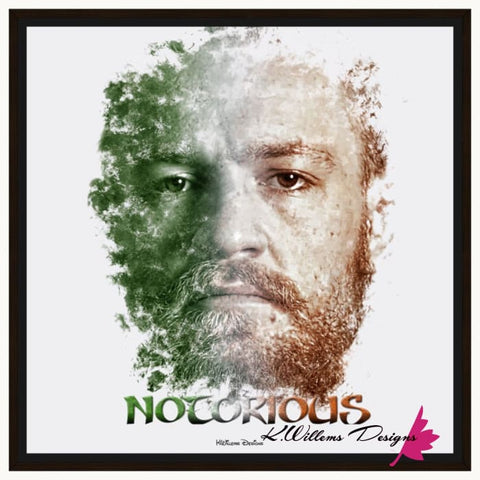 Image of Conor McGregor Ink Smudge Style Art Print - Framed Canvas Art Print / 24x24 inch
