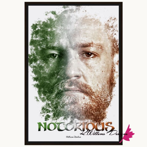 Image of Conor McGregor Ink Smudge Style Art Print - Framed Canvas Art Print / 24x36 inch