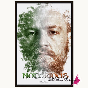 Conor McGregor Ink Smudge Style Art Print - Framed Canvas Art Print / 24x36 inch