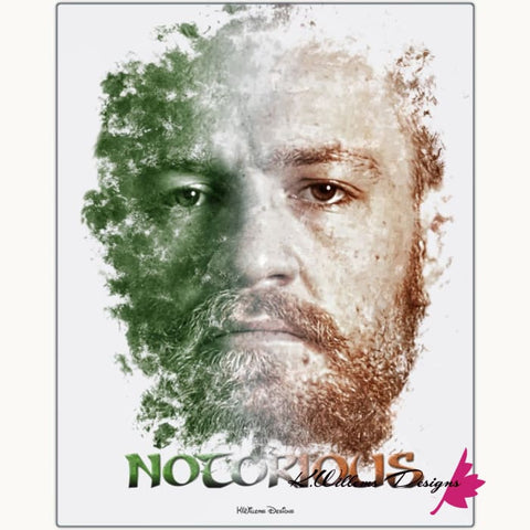 Image of Conor McGregor Ink Smudge Style Art Print - Metal Art Print / 16x20 inch
