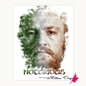 Conor McGregor Ink Smudge Style Art Print - Wrapped Canvas Art Print / 16x20 inch