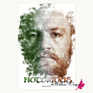 Conor McGregor Ink Smudge Style Art Print - Wrapped Canvas Art Print / 24x36 inch