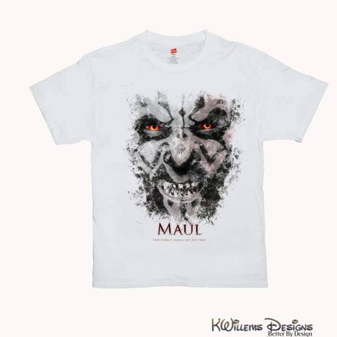 Image of Darth Maul Ink Smudge Mens Hanes T-Shirt - S