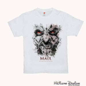 Darth Maul Ink Smudge Mens Hanes T-Shirt - S