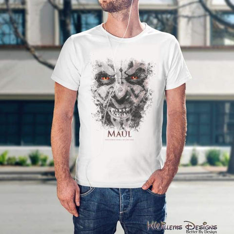 Image of Darth Maul Ink Smudge Mens Hanes T-Shirt