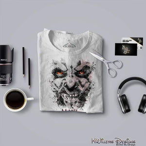 Darth Maul Ink Smudge Mens Hanes T-Shirt