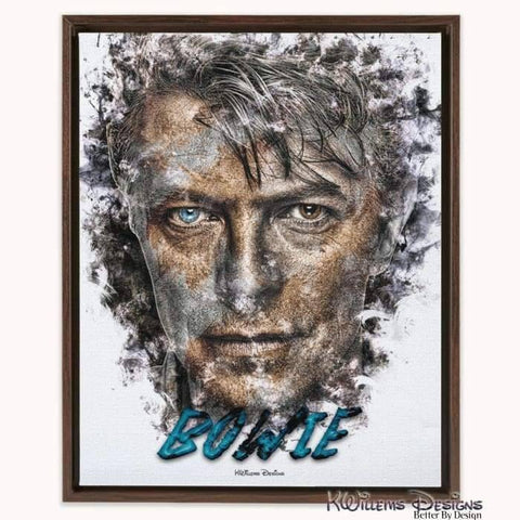 Image of David Bowie Ink Smudge Style Art Print - Framed Canvas Art Print / 16x20 inch