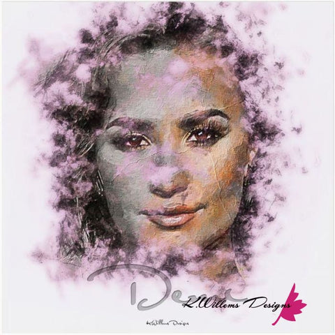 Demi Lovato Ink Smudge Style Art Print - Acrylic Art Print / 24x24 inch