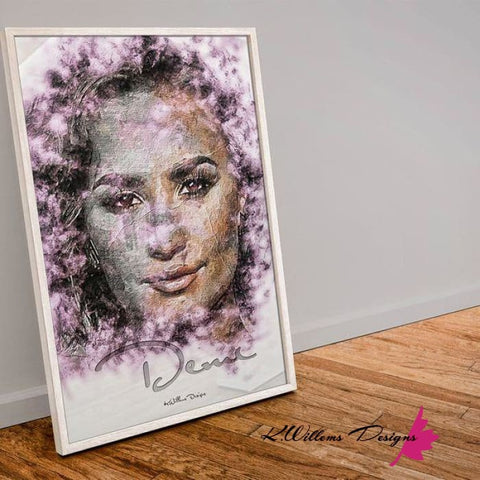 Image of Demi Lovato Ink Smudge Style Art Print