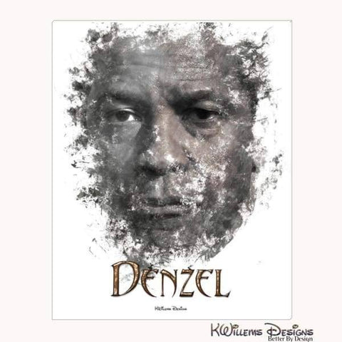 Image of Denzel Washington Ink Smudge Art Art Print - Wrapped Canvas Art Print / 16x20 inch