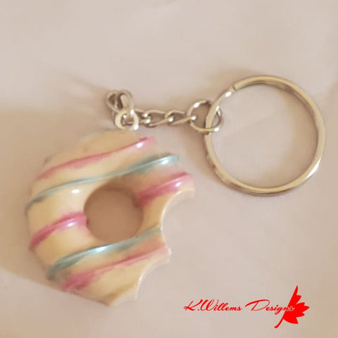 Donut Key Chains - Eat Me / Vanilla / Vanilla