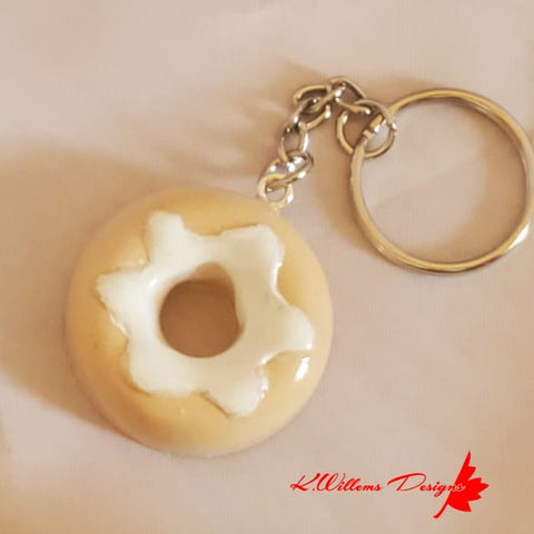 Donut Key Chains - Glazed / Vanilla / Vanilla