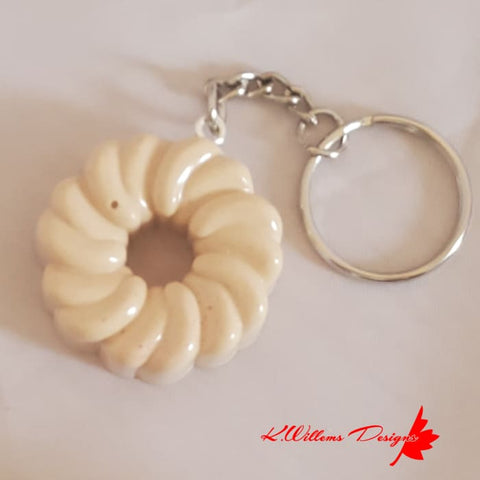 Donut Key Chains - Honey Cruller / Vanilla / Unglazed