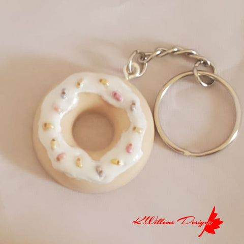 Image of Donut Key Chains - Sprinkles / Vanilla / Vanilla