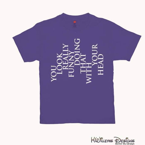 Image of You Look Really Funny Hanes Mens T-Shirt - Purple / Small (S)