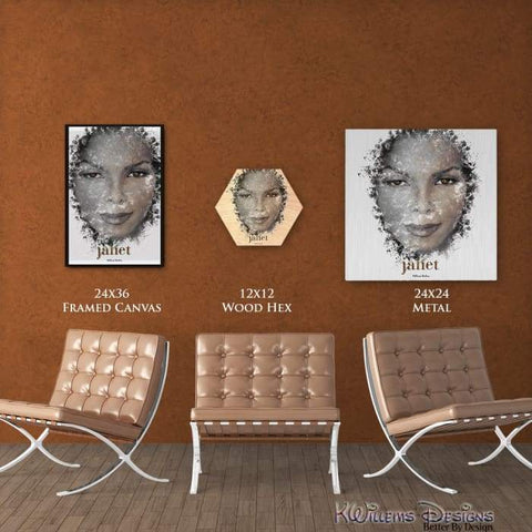 Janet Jackson Ink Smudge Style Art Print
