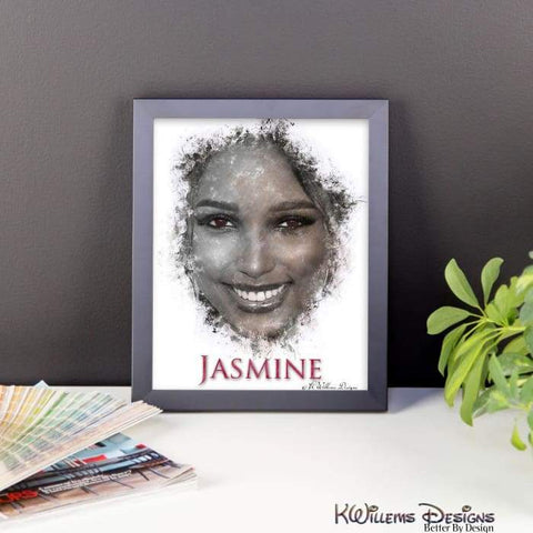 Image of Jasmine Tookes Ink Smudge Style Art Print