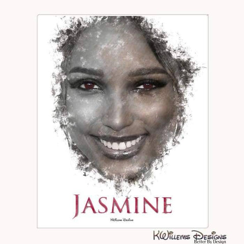 Jasmine Tookes Ink Smudge Style Art Print - Wrapped Canvas Art Print / 16x20 inch