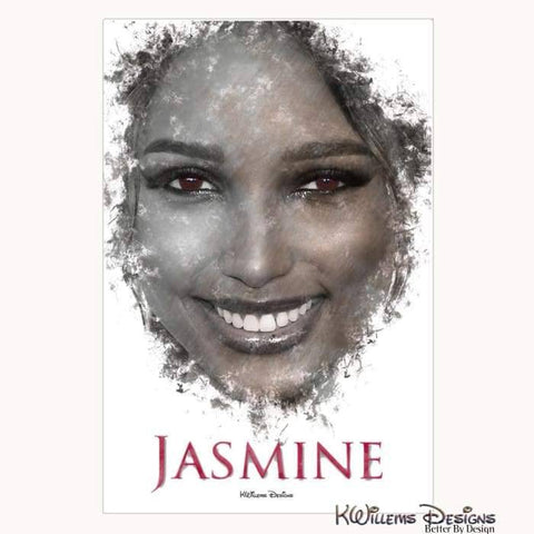 Jasmine Tookes Ink Smudge Style Art Print - Wrapped Canvas Art Print / 24x36 inch