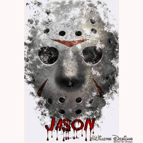Image of Jason Voorhees Ink Smudge Style Art Print - Acrylic Art Print / 24x36 inch