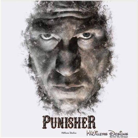 Image of Jon Bernthal as The Punisher Ink Smudge Style Art Print - Acrylic Art Print / 24x24 inch