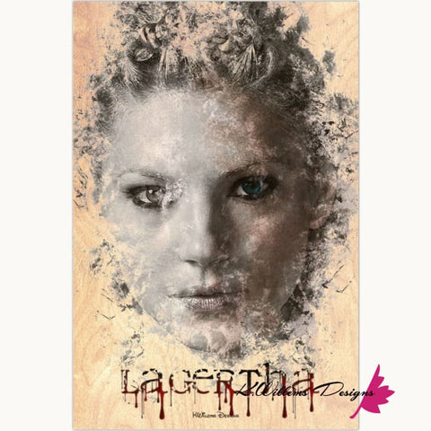 Image of Katheryn Winnick as Lagertha Lothbrok Ink Smudge Style Art Print