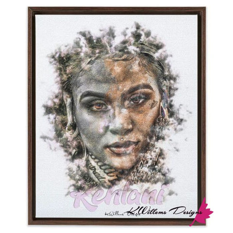 Image of Kehlani Ink Smudge Style Art Print - Framed Canvas Art Print / 16x20 inch