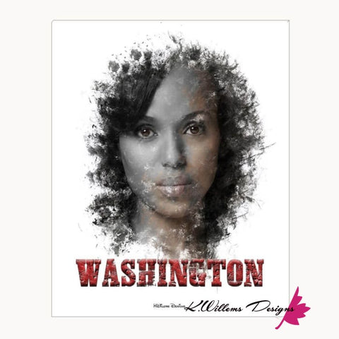 Image of Kerry Washington Premium Ink Smudge Art Print - Acrylic Art Print / 16x20 inch