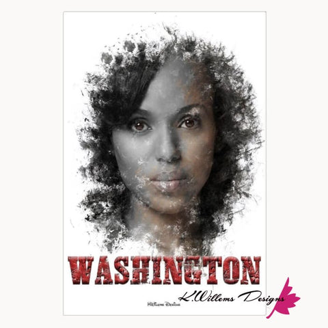 Image of Kerry Washington Premium Ink Smudge Art Print - Acrylic Art Print / 24x36 inch