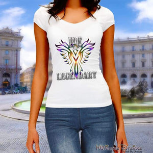 Be Legendary Ladies District V-Neck T-Shirts