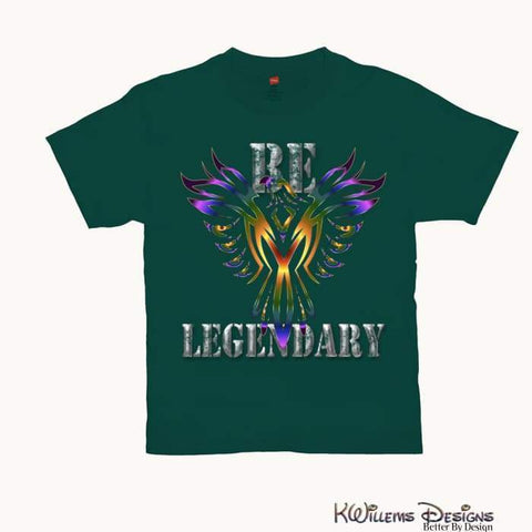 Image of Be Legendary Mens T-Shirts - Deep Forest / Small (S)