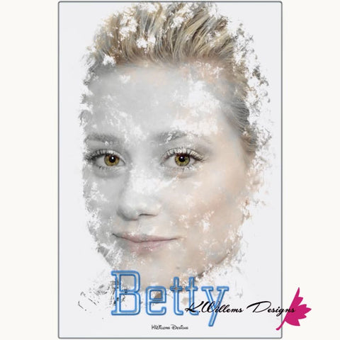 Lili Reinhart as Betty Ink Smudge Style Art Print - Metal Art Print / 24x36 inch