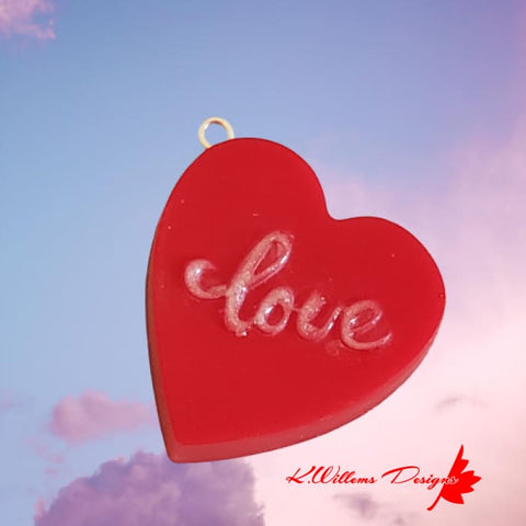 Image of Love Heart Key Chain - Red