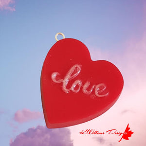 Love Heart Key Chain - Red