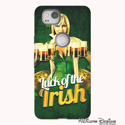 Image of Luck of the Irish Phone Cases - Google Pixel 2 / Premium Glossy Tough Case
