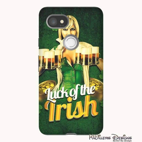 Image of Luck of the Irish Phone Cases - Google Pixel 2 XL / Premium Glossy Tough Case
