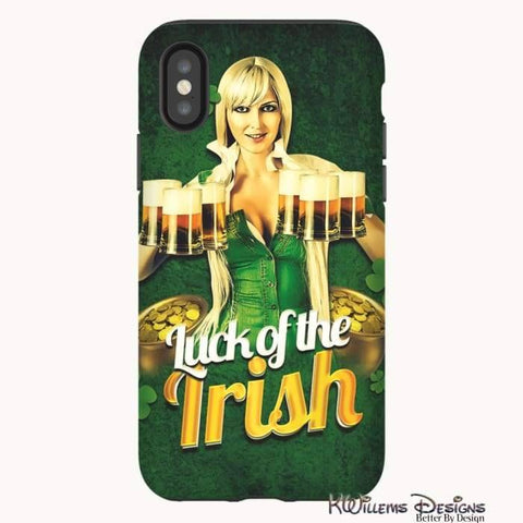 Image of Luck of the Irish Phone Cases - iPhone X / Premium Glossy Tough Case