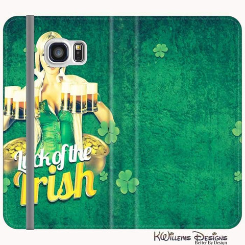 Image of Luck of the Irish Phone Cases - Samsung Galaxy S6 / Premium Folio Wallet Satin Case