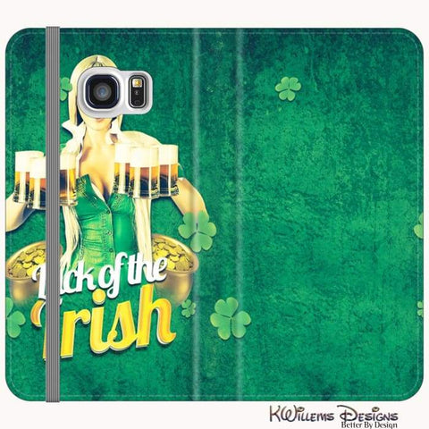 Image of Luck of the Irish Phone Cases - Samsung Galaxy S7 / Premium Folio Wallet Satin Case