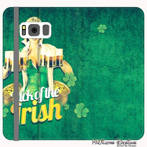 Image of Luck of the Irish Phone Cases - Samsung Galaxy S8 / Premium Folio Wallet Satin Case