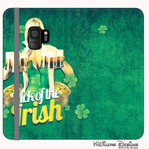 Image of Luck of the Irish Phone Cases - Samsung Galaxy S9 / Premium Folio Wallet Satin Case
