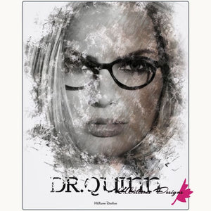 Margot Robbie as Dr Quinzel Ink Smudge Style Art Print - Metal Art Print / 16x20 inch