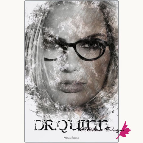 Image of Margot Robbie as Dr Quinzel Ink Smudge Style Art Print - Metal Art Print / 24x36 inch
