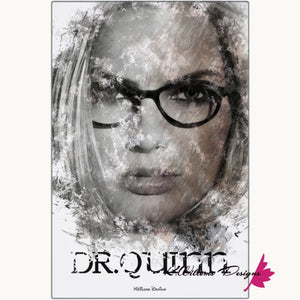 Margot Robbie as Dr Quinzel Ink Smudge Style Art Print - Metal Art Print / 24x36 inch