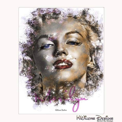 Marilyn Monroe Ink Smudge Style Art Print - Wrapped Canvas Art Print / 16x20 inch